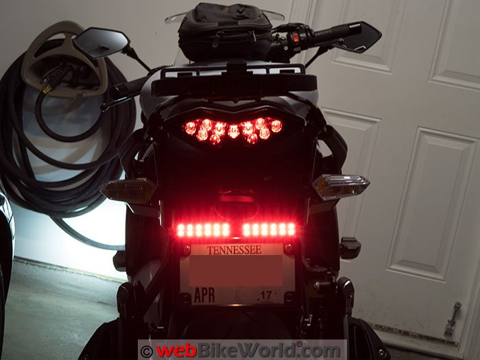 Skene P3 Brake Lights on the Kawasaki Ninja 1000