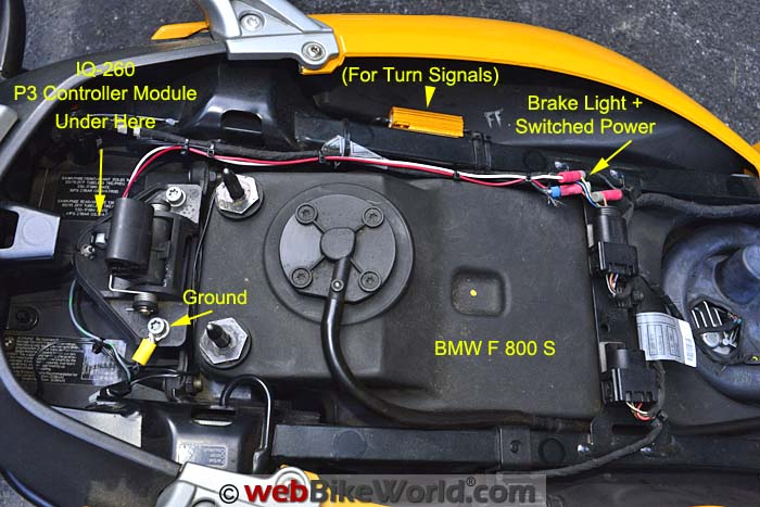 Skene P3 Lights Wiring on the BMW F800S
