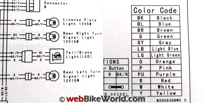 2015 Kawasaki Versys Rear Lighting Wiring Diagram