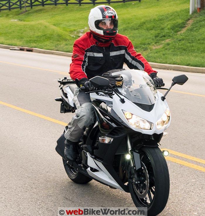 Arai Vector 2 Helmet on Rider