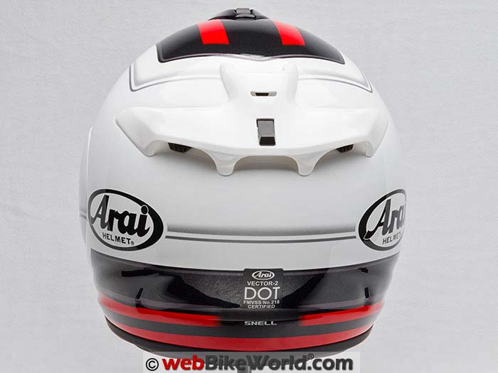 Arai Vector 2 Helmet Rear View