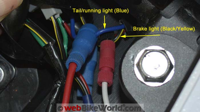 Connecting Brake Light Wires to the Versys
