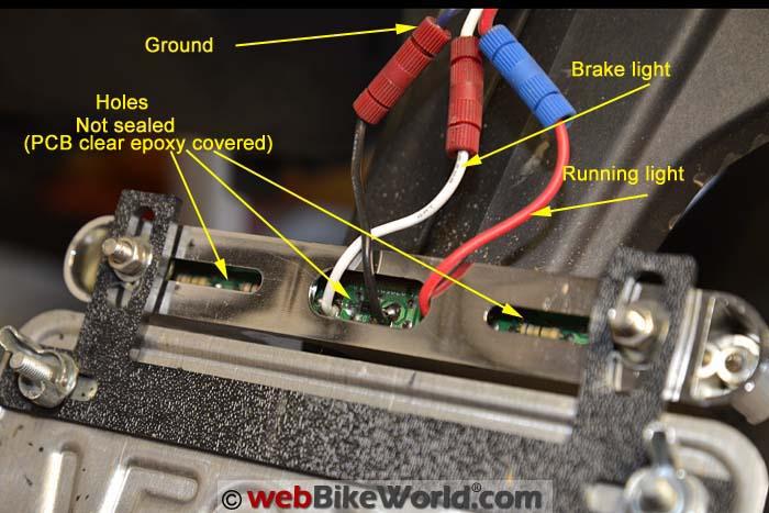 Rear View of License Plate Brake Light Bar