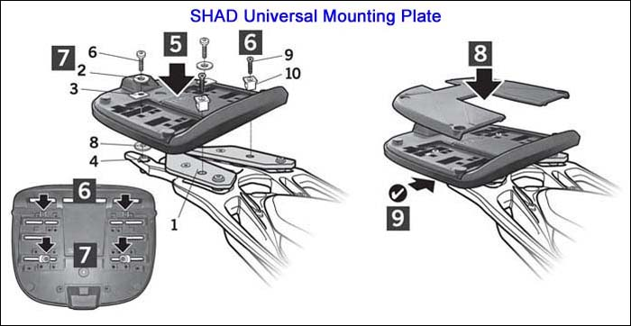 SHAD Universal Mounting Plate Installation