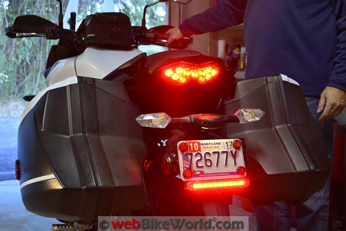 Fantastic License Plate Led Brake Light Webbikeworld Wiring 101 Capemaxxcnl