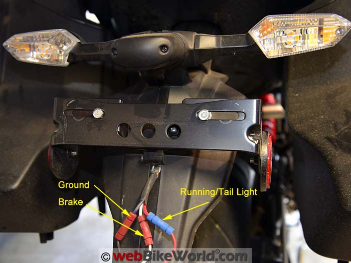 Wiring Diagram For The 2015 Versys 650 Showing The Rear Light Wiring