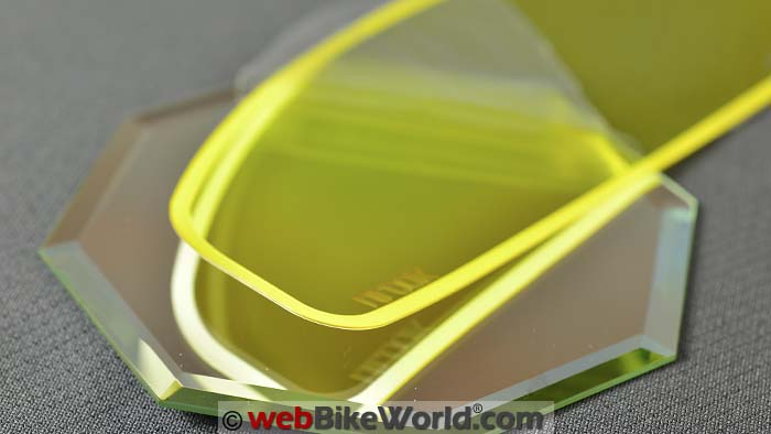 Yellow WeeTect Anti-Fog Visor Insert