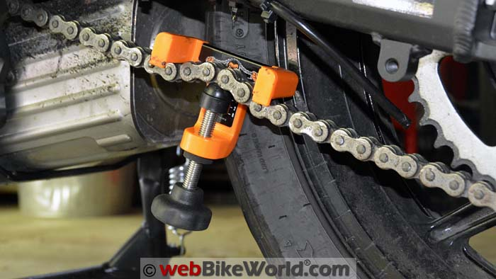 Chain Monkey on Motorcycle Chain