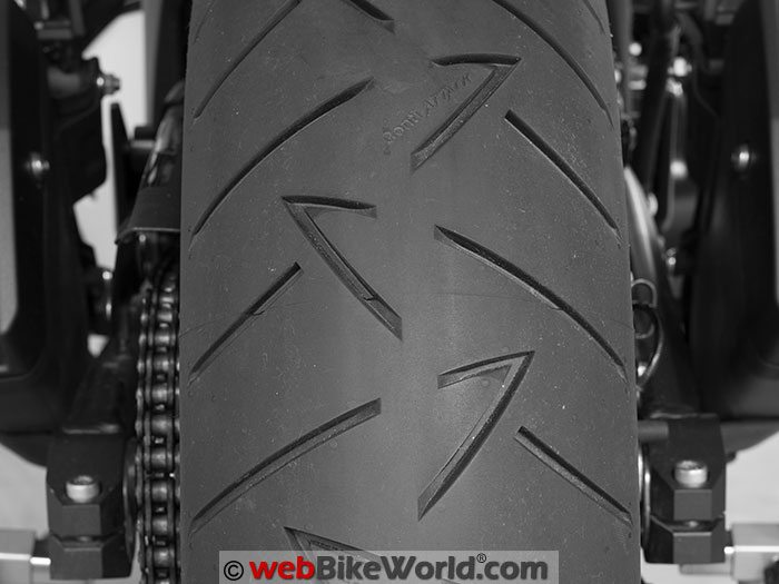 Continental Road Attack 2 EVO Tire Rear Tread Pattern