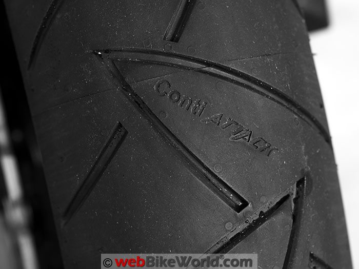 Continental Road Attack 2 EVO Tire Tread Close-up