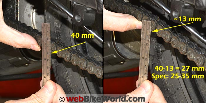 How to Measure Motorcycle Chain Slack