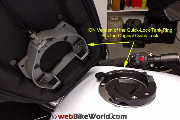 Old Style SW-Motech Quick Lock Ring