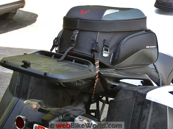 ROK Straps on Rear Seat Bag