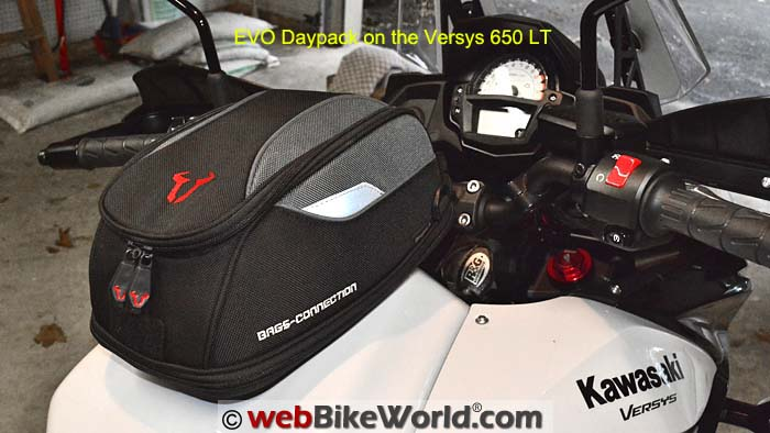 SW-Motech Daypack Tank Bag on Versys 650 Right Rear