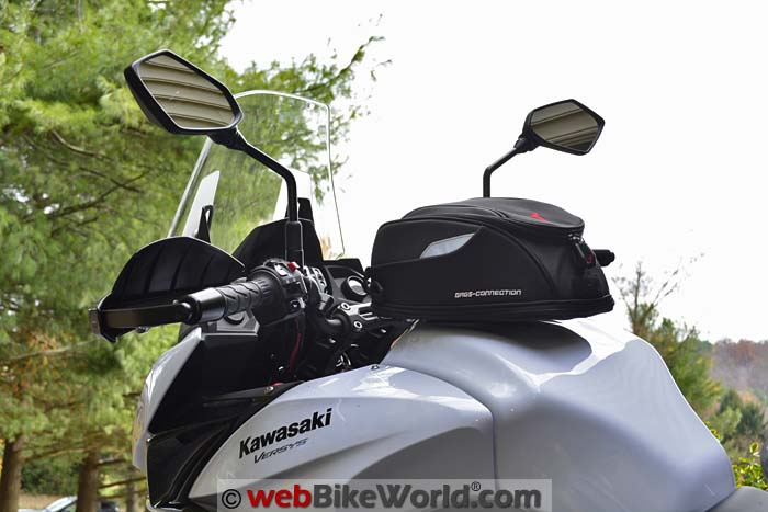 SW-Motech Daypack Tank Bag on Versys 650 Side View