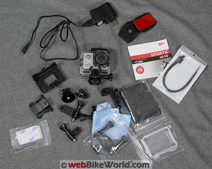 SJCAM SJ4000 Sports Kit Contents