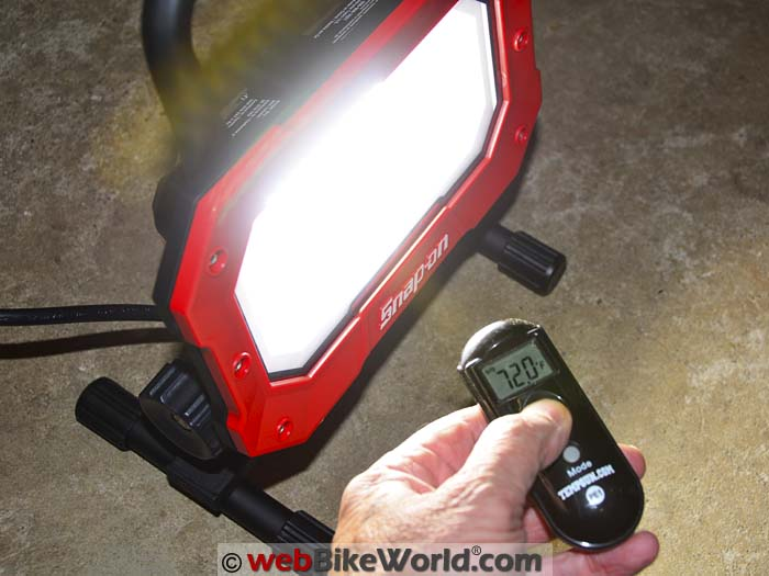 Snap On Led Work Light Review Webbikeworld
