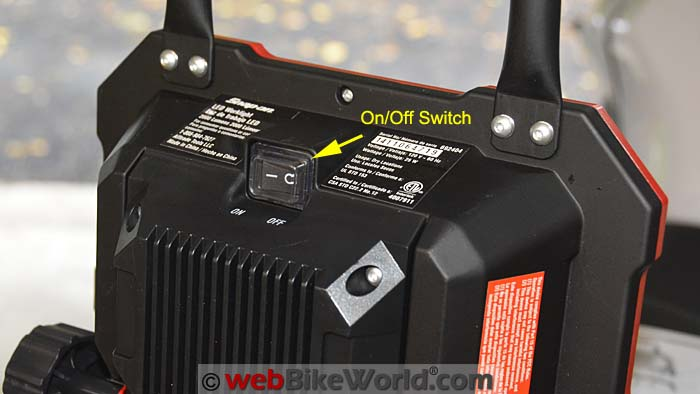 Snap-On LED Work Light On Off Switch