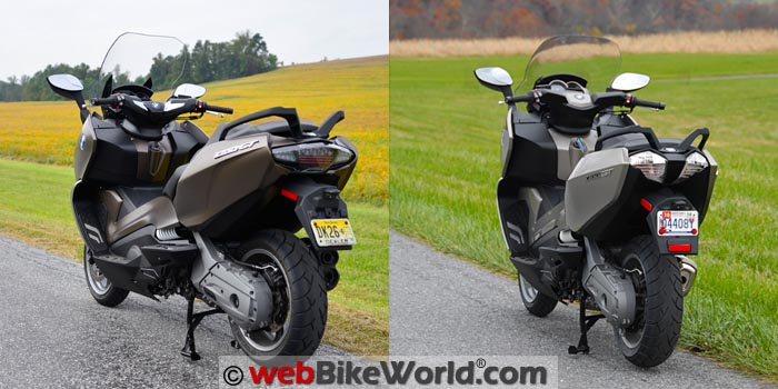 2016 vs. 2012 BMW C 650 GT Rear View