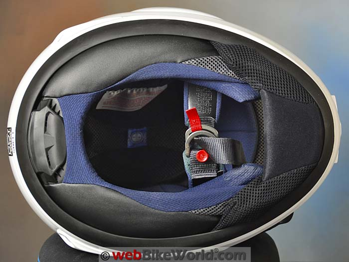 Arai Quantum-X Chin Strap and Chin Curtain