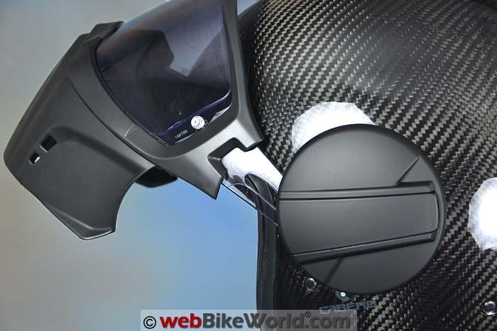 Caberg Ghost Helmet Visor Open