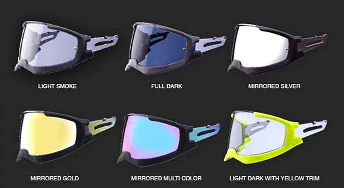 Caberg Ghost Visor Colors