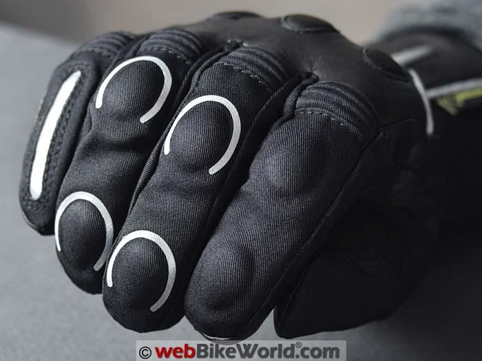 iXS Vidar Gloves Knuckle Protectors Close-up
