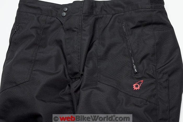 Joe Rocket Ballistic 7 Pants Front Pockets