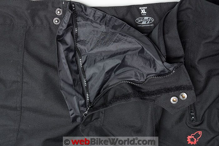 Joe Rocket Ballistic 7 Pants Front Zipper