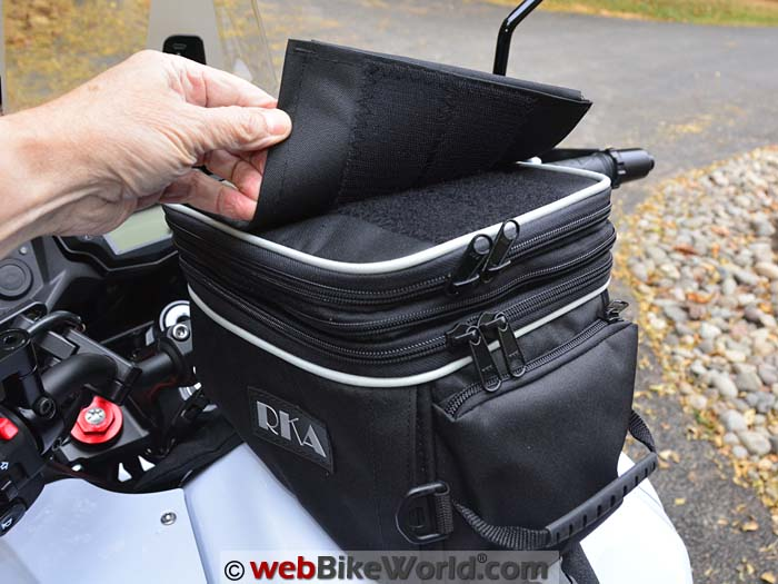 RKA Shiloh Road Tank Bag Removable Map Case
