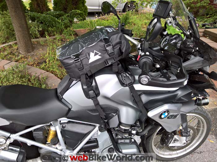 Touratech Moto Tank Bag on BMW R1200GS Right Side