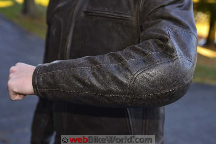 Helite Leather Airbag Jacket Elbow