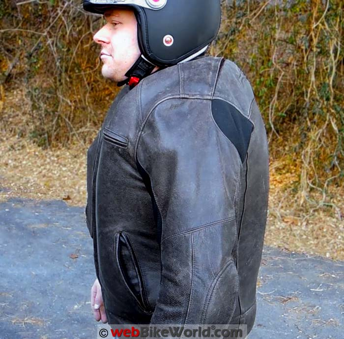 Helite Leather Airbag Jacket Inflated