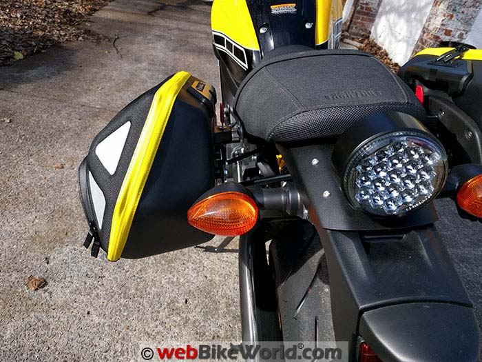 Hepco & Becker Royster C-Bow Bag On Yamaha XSR900 Rear View
