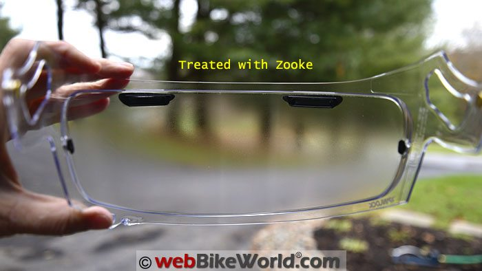 Motorcycle Helmet Visor Treated With Zooke Anti-Fog