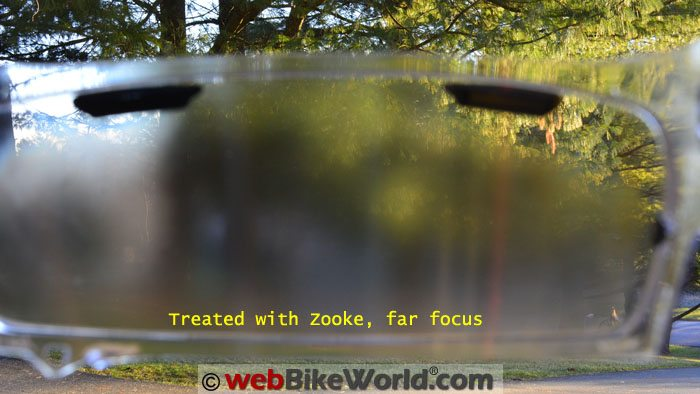 Motorcycle Helmet Visor Treated With Zooke Far Focus