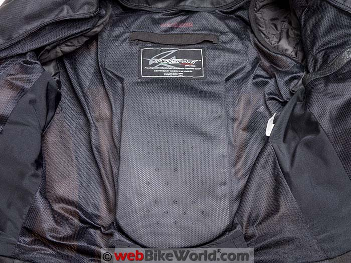 AGV Sport Compass Jacket Back Protector