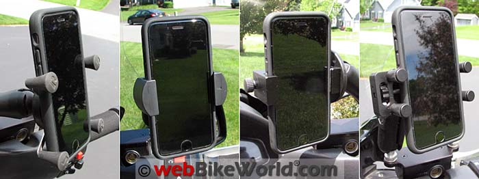 Four Motorcycle Phone Mounts Reviewed