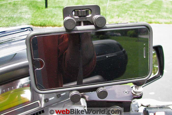 Perfect Squeeze Phone Mount With Phone