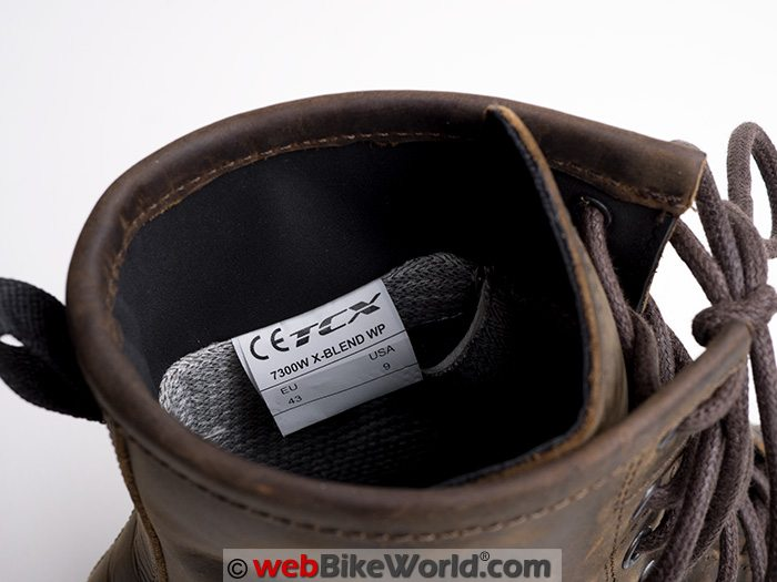 TCX X-Blend Waterproof Boots Interior