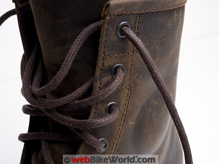 TCX X-Blend Waterproof Boots Laces Close-up