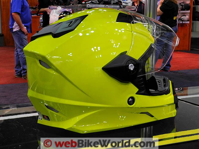 AFX FX-39DS in High-Visibility Neon Yellow, Rear View