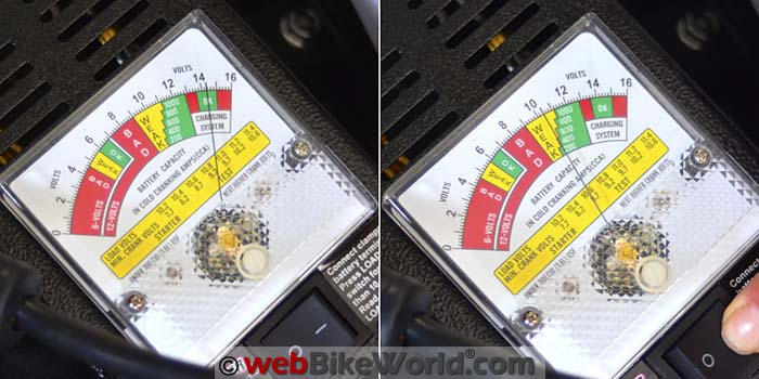 Battery Tester With Bike Started