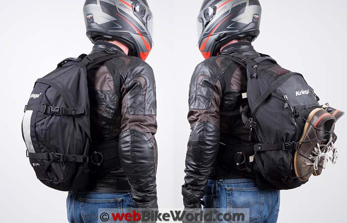 Kriega R25 vs. R35 Backpacks