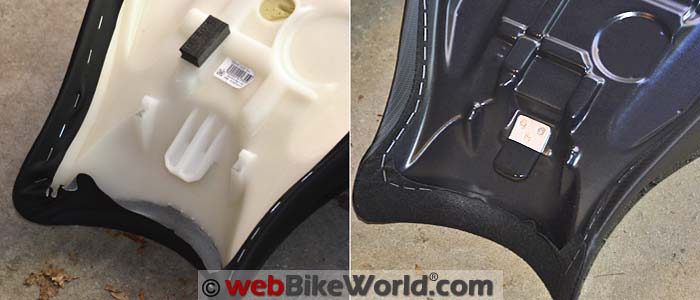 Stock vs. Sargent Seat Front