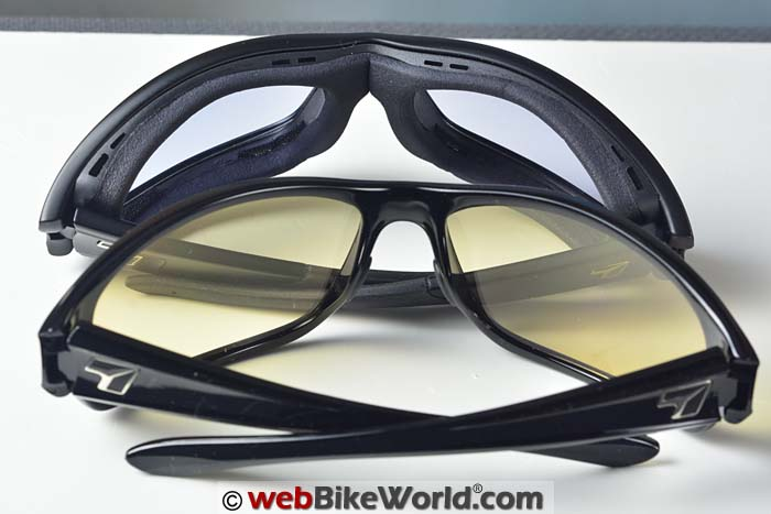 7Eye Motorcycle Sunglasses Inside View