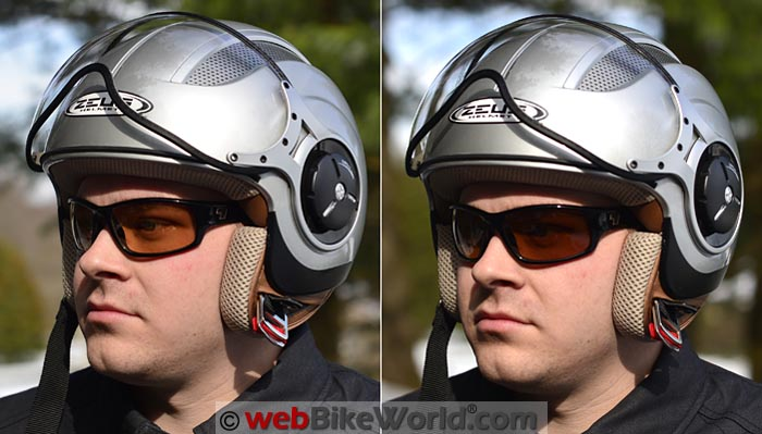 7Eye Rake Day Night Contrast Sunglasses on Rider
