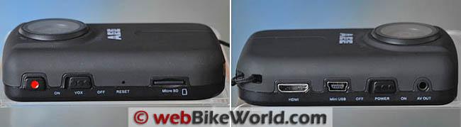 AEE HD50 Side Views