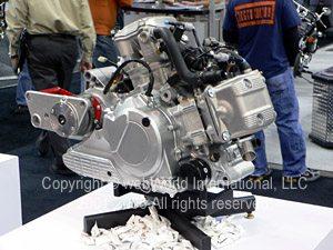 Piaggio 850cc V-twin engine