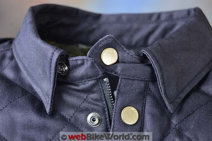 REV'IT! Westport Overshirt Collar Close-up